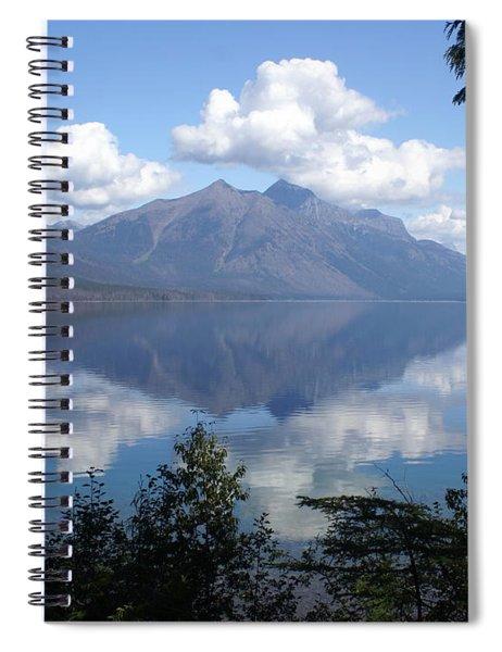 Lake Mcdonald Glacier National Park Spiral Notebook