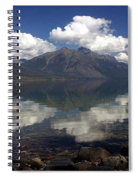 Lake Mcdonald Reflection Glacier National Park Spiral Notebook