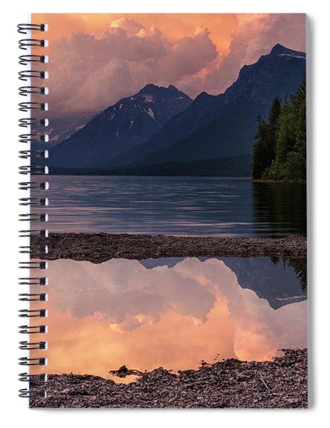 Lake Mcdonald Sunset Spiral Notebook