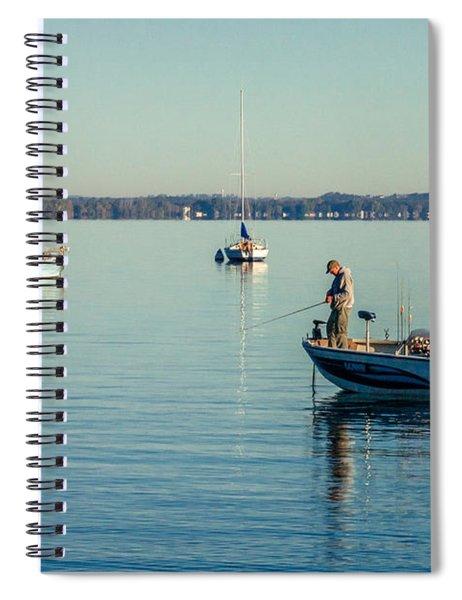 Lake Mendota Fishing Spiral Notebook
