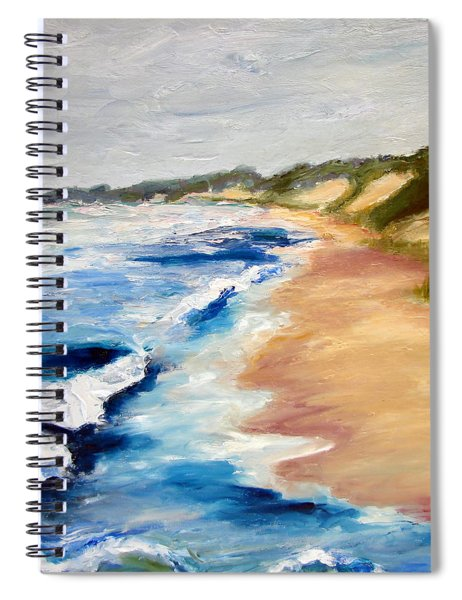 Lake Michigan Beach With Whitecaps Detail Spiral Notebook