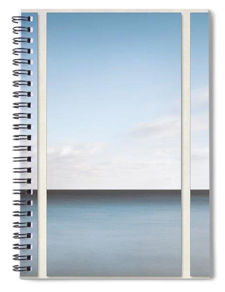 Lake Michigan Minimalist Triptych Spiral Notebook