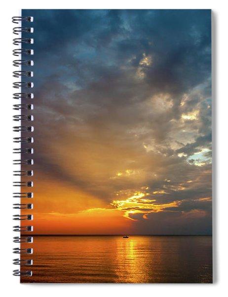 Lake Michigan Sunset Spiral Notebook