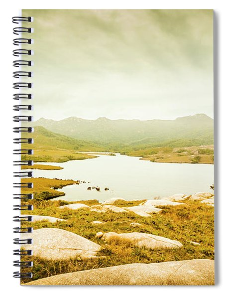 Lake On A Mountain Spiral Notebook