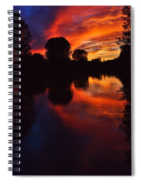 Lake Sunset Reflections Spiral Notebook