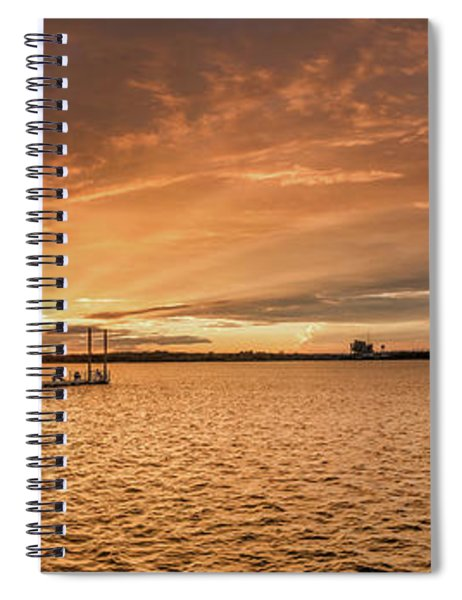 Spiral Notebook featuring the photograph Lake Sunset by Robert Bellomy