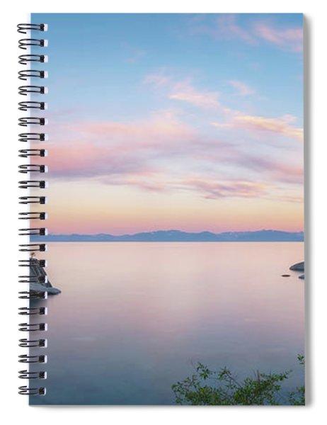Lake Tahoe Sunrise Panorama Spiral Notebook