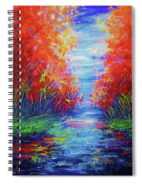 Olena Art Lake View Abstract Artwork Spiral Notebook