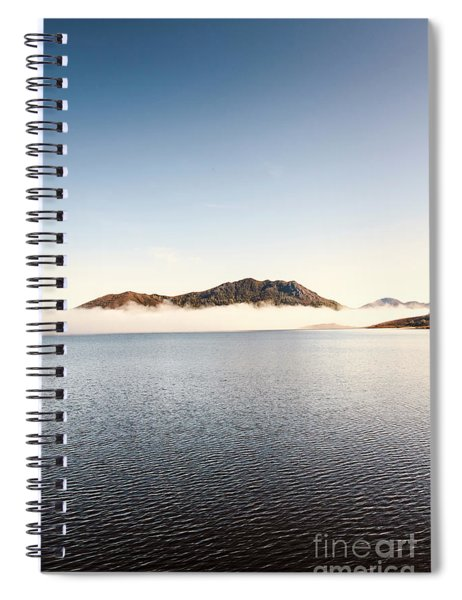 Lakes In Morning View Spiral Notebook