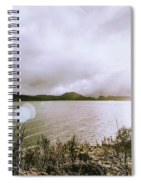 Lakes In Sunset Spiral Notebook