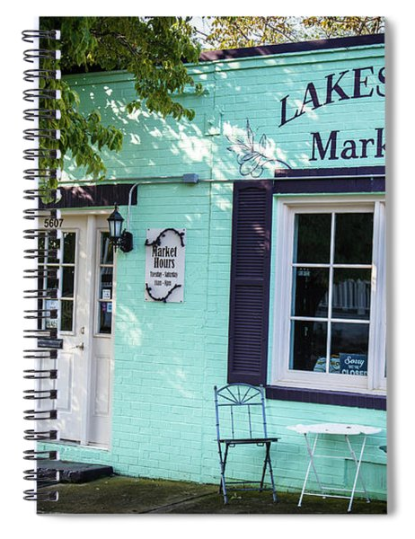 Spiral Notebook featuring the photograph Lakeside Market by Doug Camara
