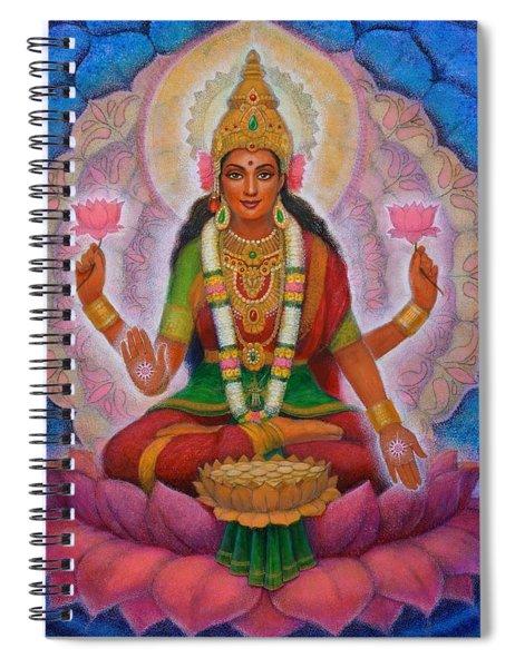 Lakshmi Blessing Spiral Notebook