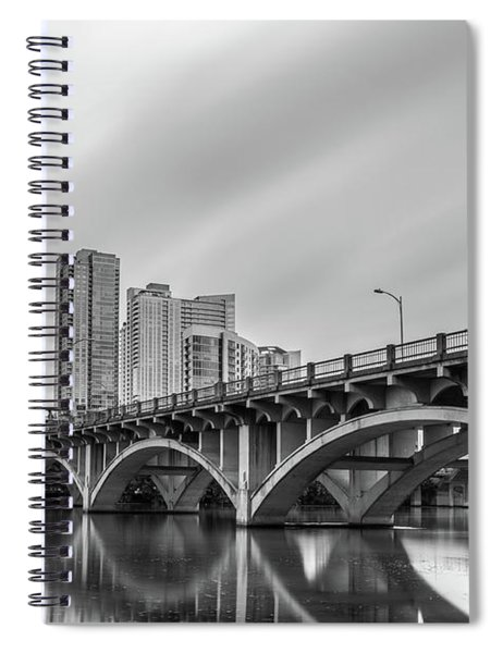 Lamar Bridge In Austin, Texas Spiral Notebook
