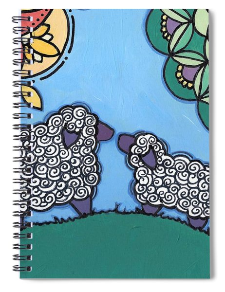 Lamb And Mama Sheep Spiral Notebook