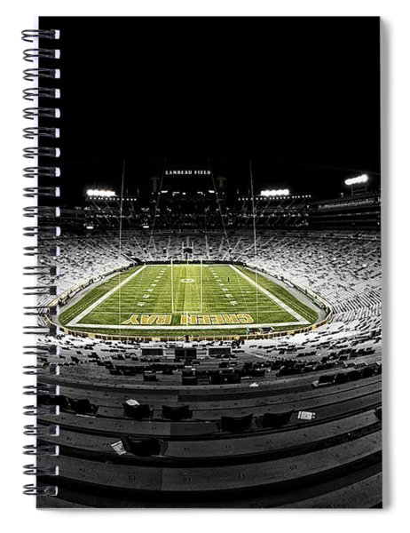 Lambeau Field At Night Spiral Notebook
