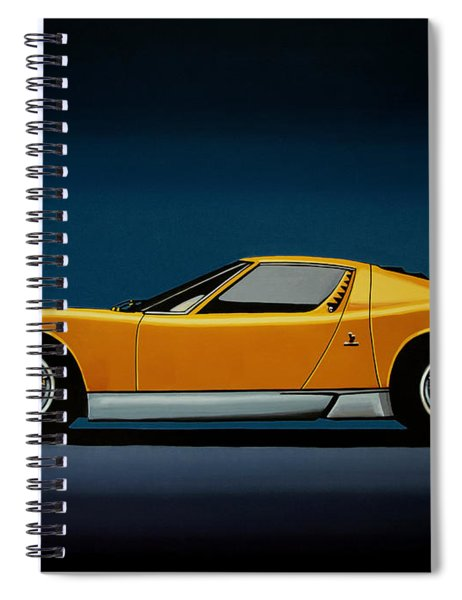 Lamborghini Miura 1966 Painting Spiral Notebook