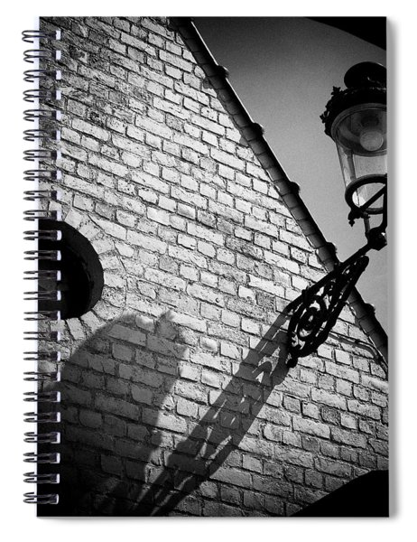 Lamp With Shadow Spiral Notebook