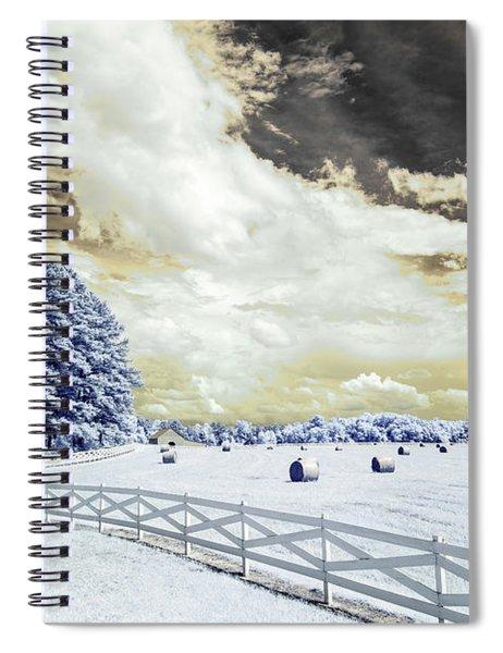 Lancaster Farm In Ir Spiral Notebook