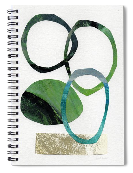 Land And Sea- Abstract Art Spiral Notebook