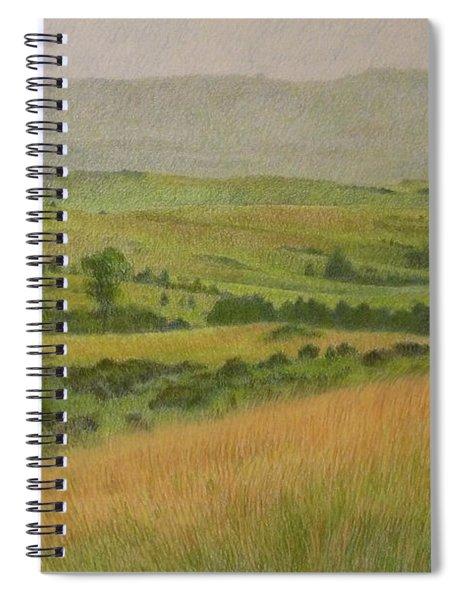 Land Of Grass Spiral Notebook