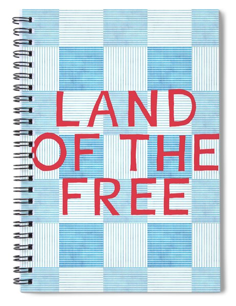 Land Of The Free Spiral Notebook by Linda Woods