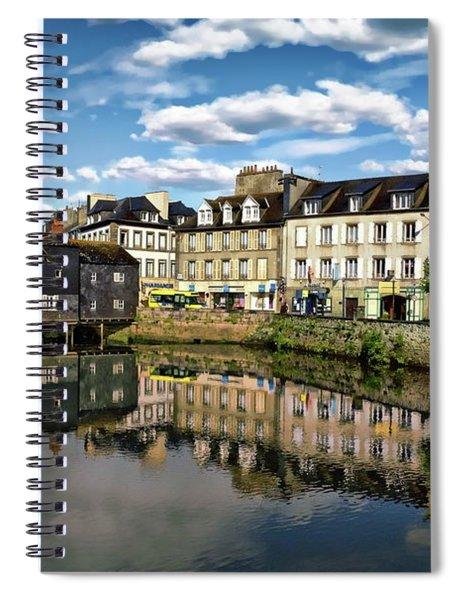 Landerneau Village View Spiral Notebook