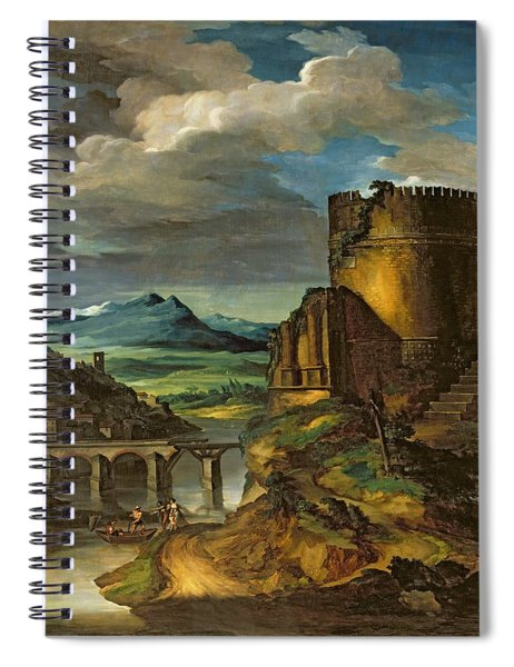 Landscape With A Tomb  Spiral Notebook