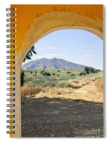 Landscape With Agave Cactus Field In Mexico Spiral Notebook