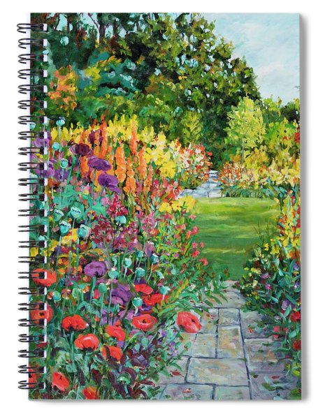 Landscape With Poppies Spiral Notebook