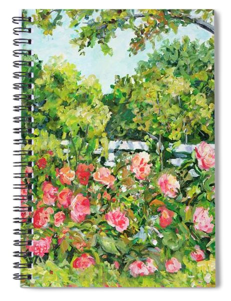 Landscape With Roses Fence Spiral Notebook