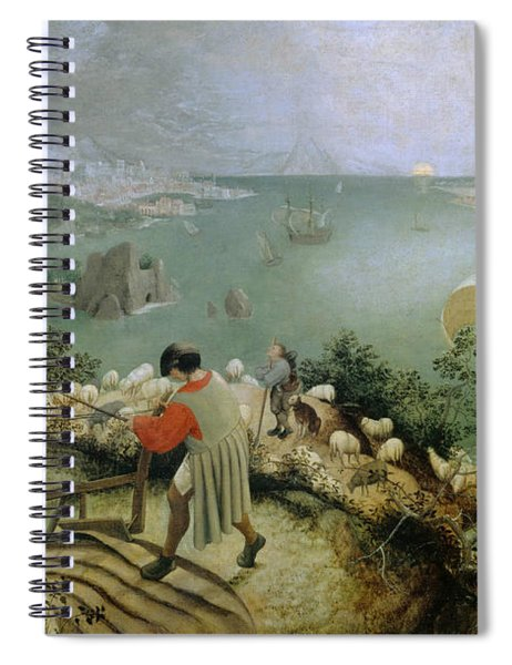 Landscape With The Fall Of Icarus Spiral Notebook