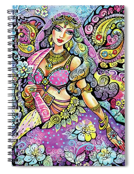 Purple Paisley Flower  Spiral Notebook