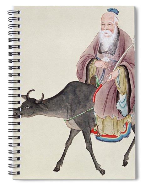 Lao Tzu On His Buffalo Spiral Notebook