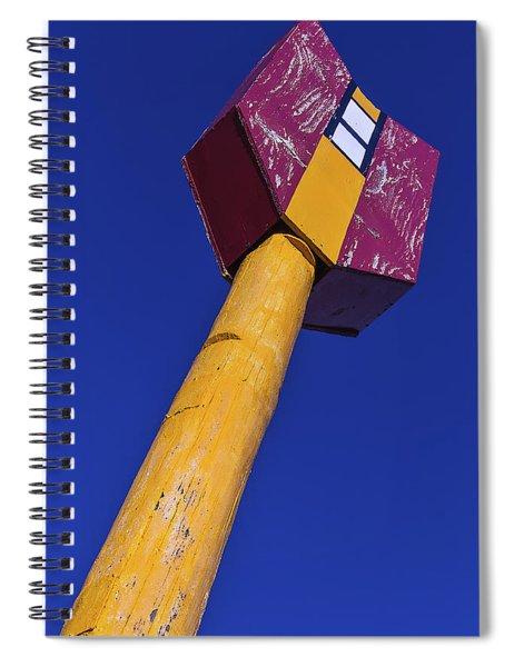 Large Arrow Sign Spiral Notebook