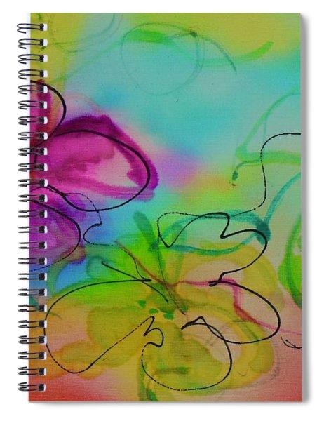 Large Flower 2 Spiral Notebook