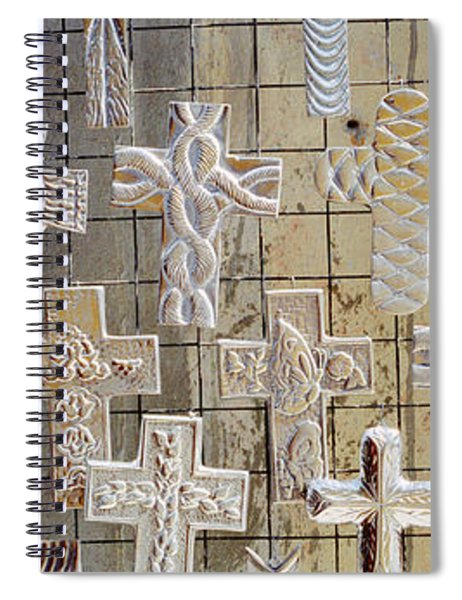 Large Group Of Crucifixes, San Miguel Spiral Notebook