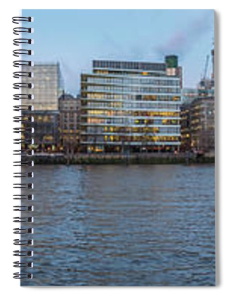 Large Panorama Of Downtown London Betwen The London Bridge And T Spiral Notebook