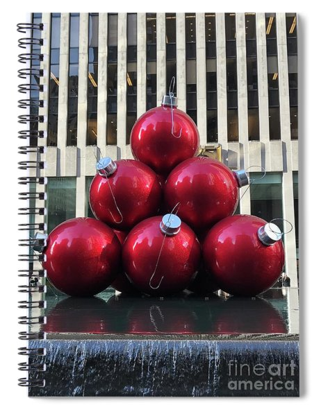 Large Red Ornaments Spiral Notebook