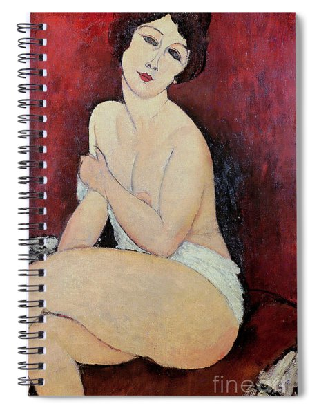 Large Seated Nude Spiral Notebook