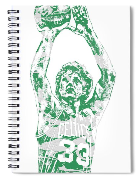Larry Bird Boston Celtics Pixel Art 5 Spiral Notebook