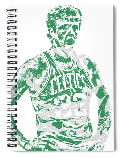 Larry Bird Boston Celtics Pixel Art 6 Spiral Notebook