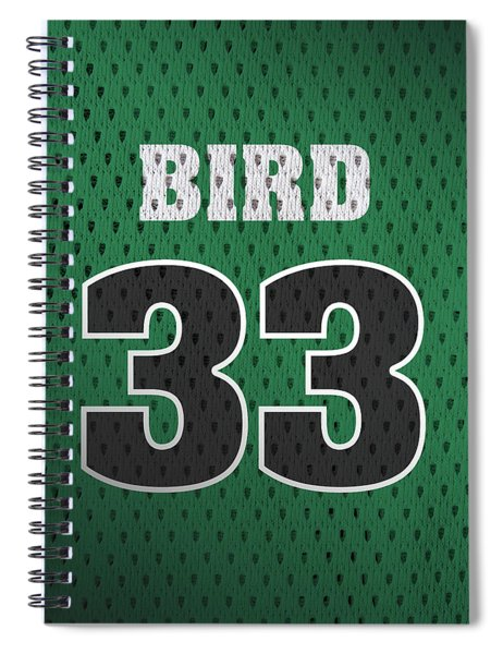 Larry Bird Boston Celtics Retro Vintage Jersey Closeup Graphic Design Spiral Notebook