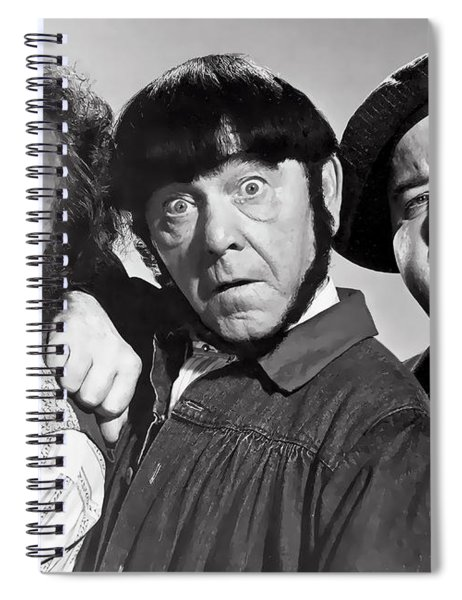 Larry, Moe And Curly Spiral Notebook
