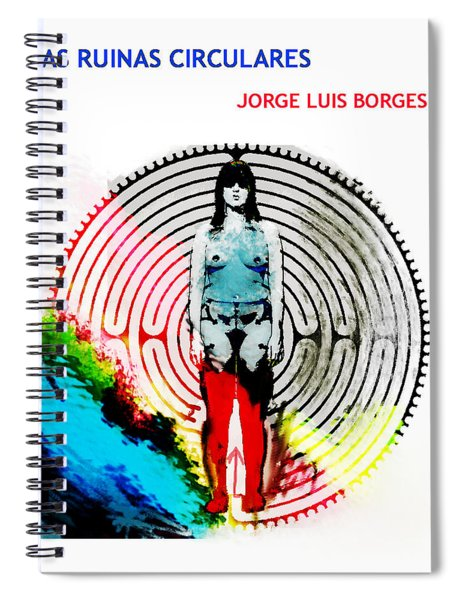 Las Ruinas Circulares Poster  Spiral Notebook