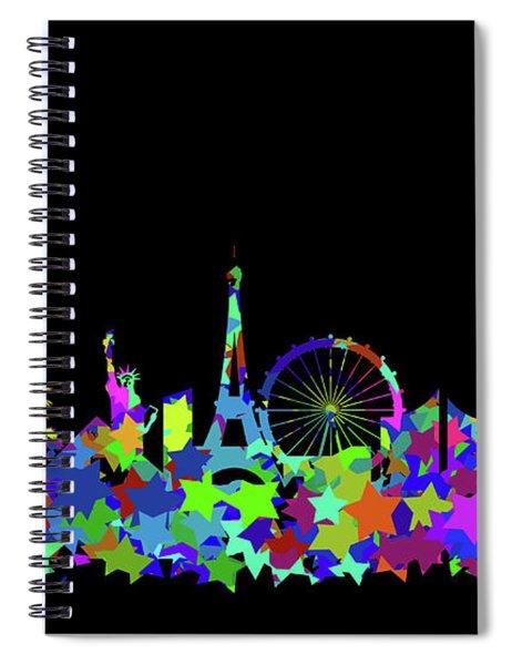 Las Vegas Skyline Silhouette II Spiral Notebook