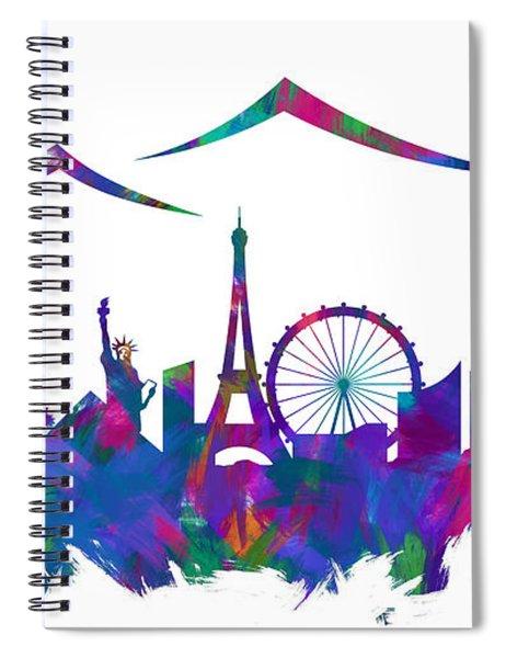 Las Vegas Skyline Silhouette IIi Spiral Notebook