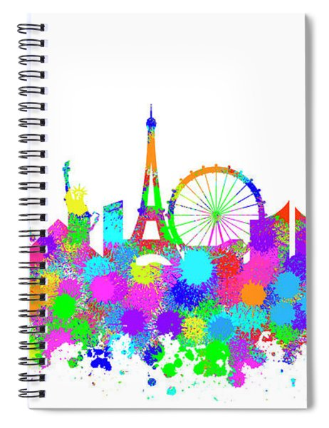Las Vegas Skyline Silhouette V Spiral Notebook