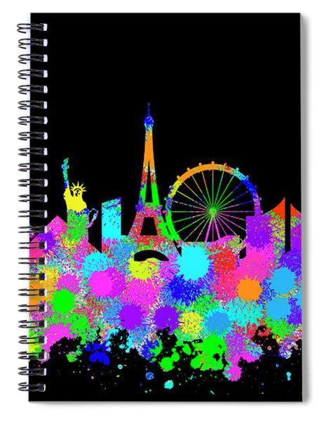 Las Vegas Skyline Silhouette Vi Spiral Notebook