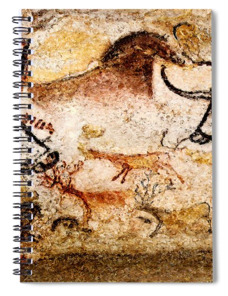 Lascaux Hall Of The Bulls - Deer Under Horse Spiral Notebook