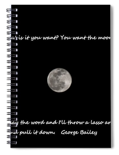 Lasso The Moon Spiral Notebook